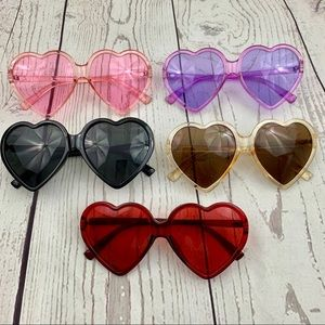 Accessories - Novelty heart shape colorful sunglasses novelty